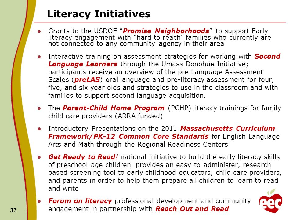 Literacy Initiatives
