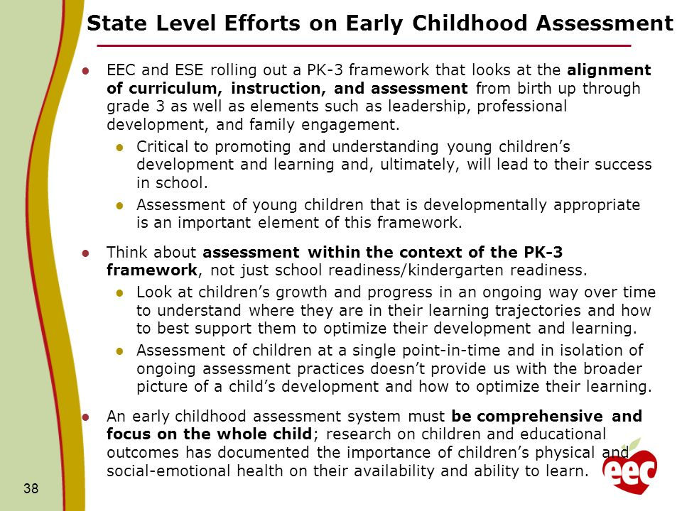 State Level Efforts on Early Childhood Assessment