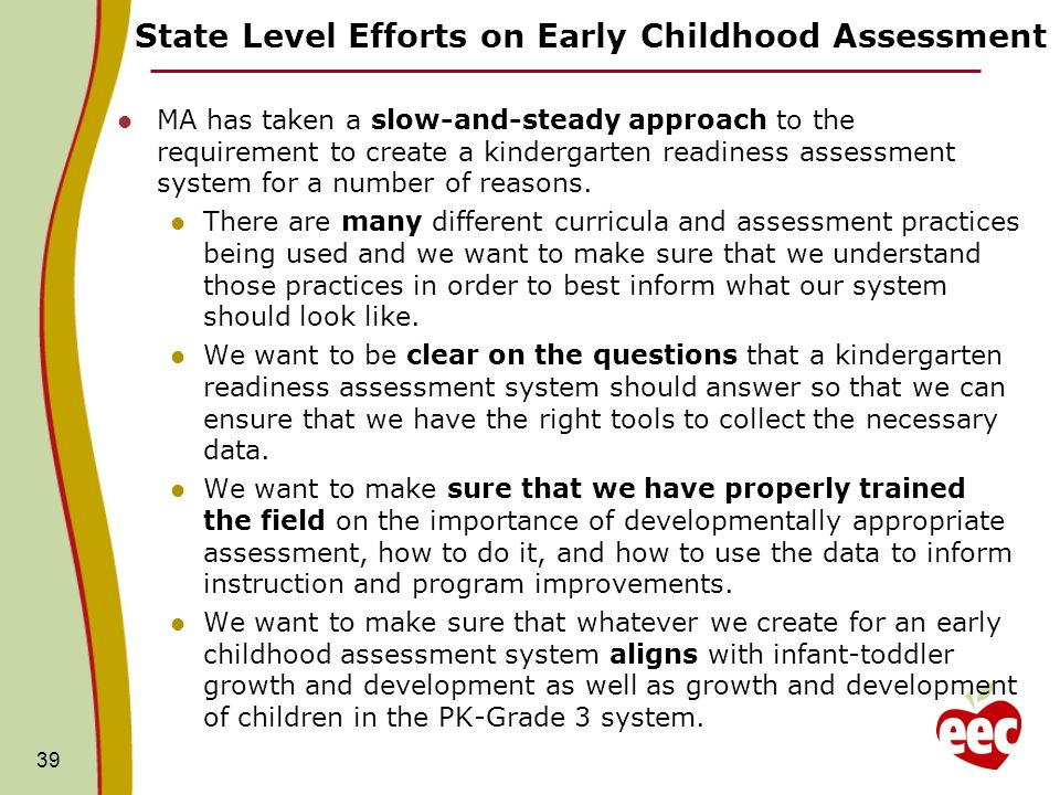 Early Childhood Systems - Assessment Tools