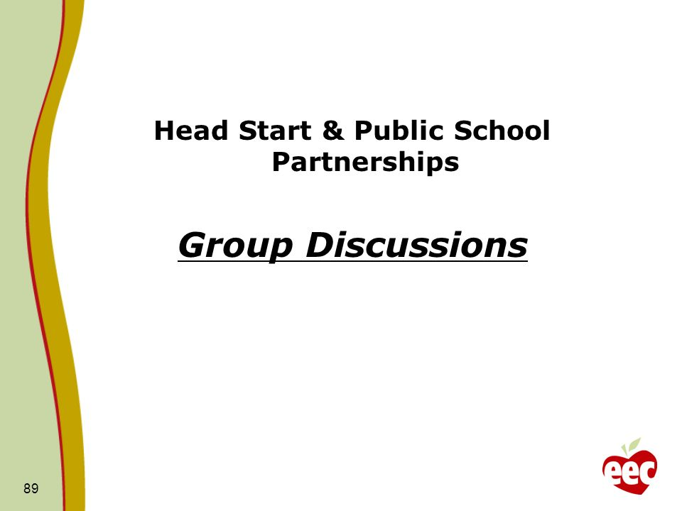 Head Start & Public School Partnerships