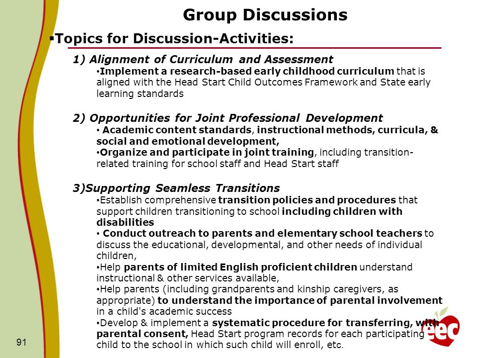 Group Discussions Topics for Discussion-Activities: