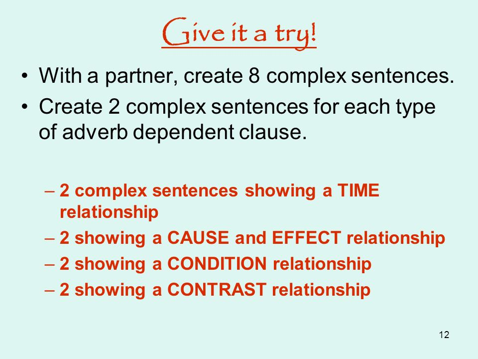 sentences showing cause and effect relationship examples