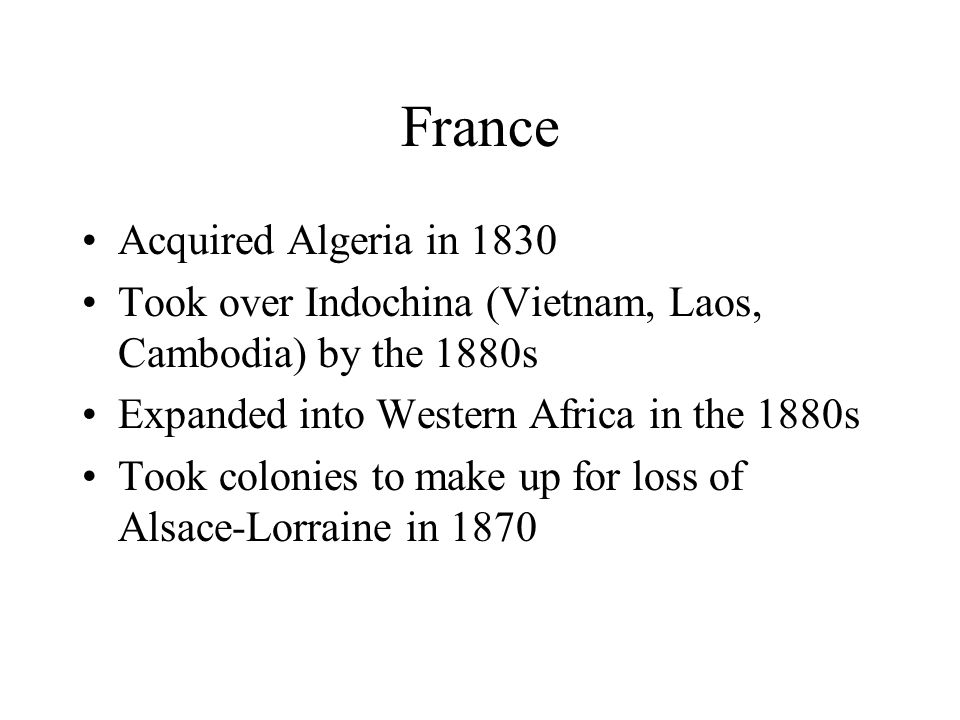 France Acquired Algeria in 1830