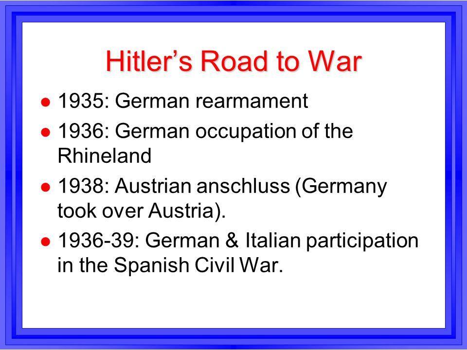 Hitler's Road to War 1935: German rearmament