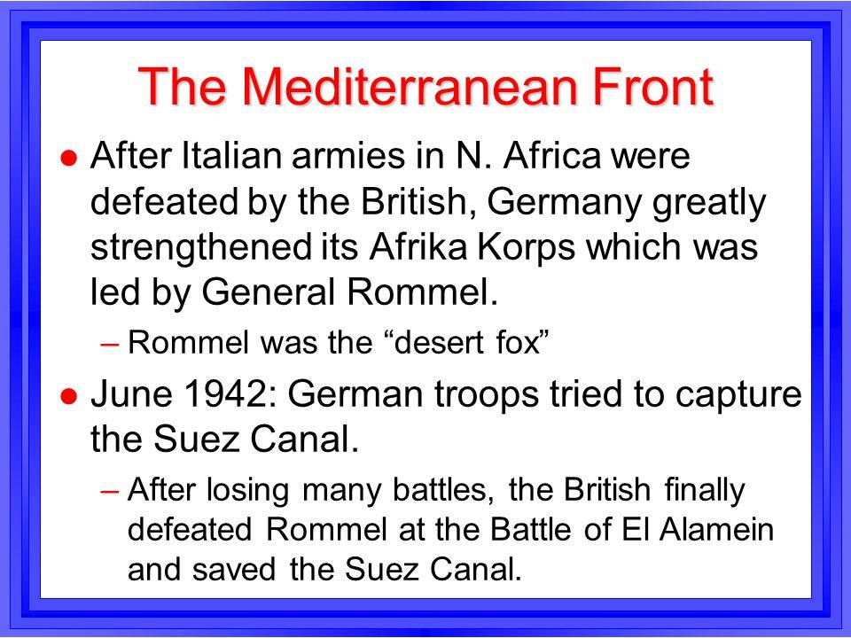 The Mediterranean Front