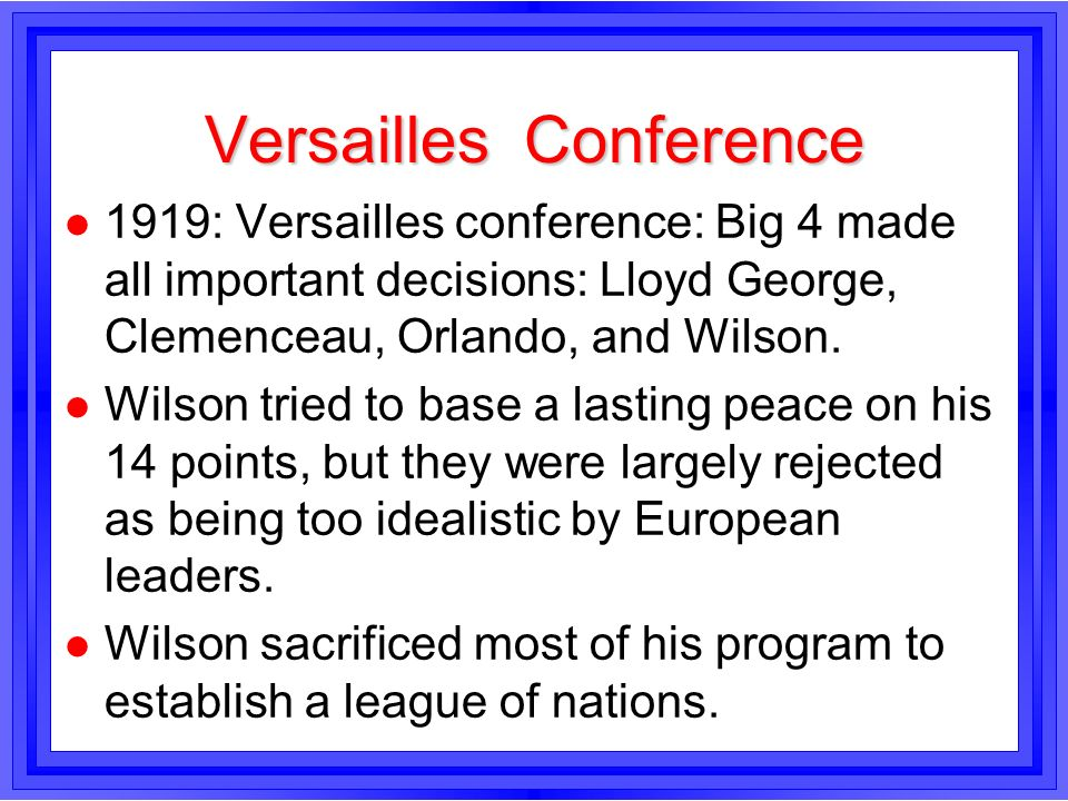 Versailles Conference