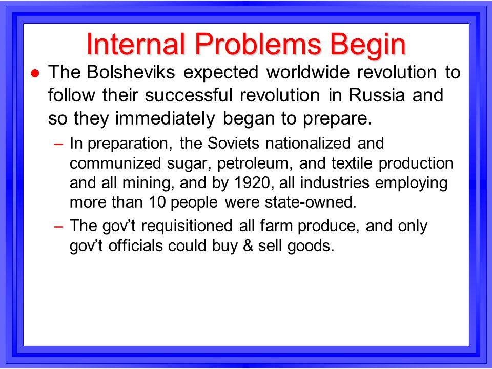Internal Problems Begin