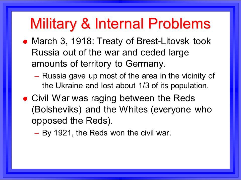 Military & Internal Problems
