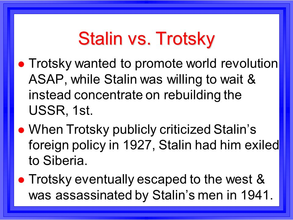 lenin and trotsky relationship test