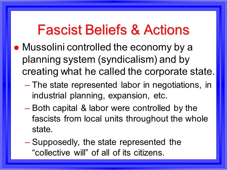 Fascist Beliefs & Actions