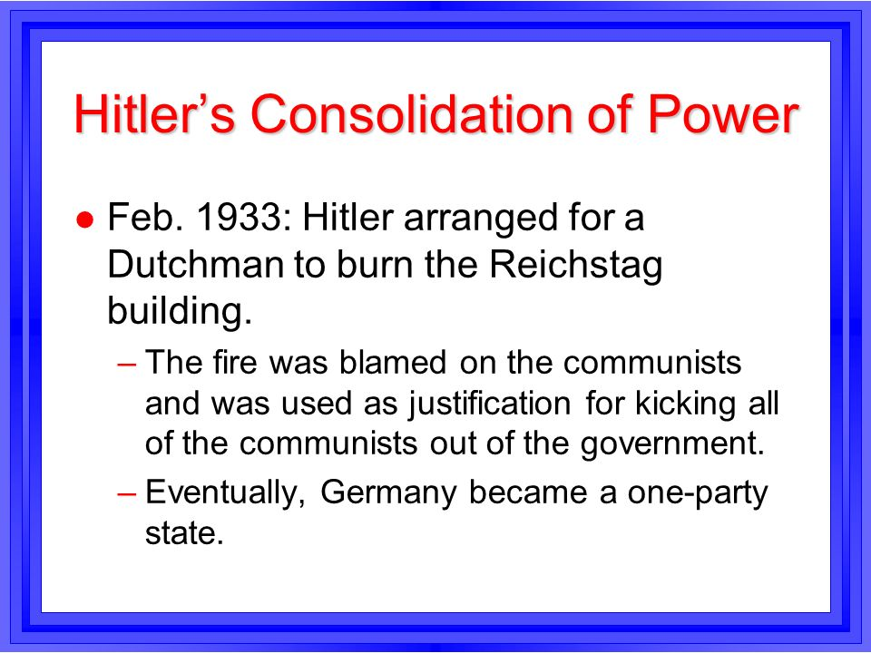 How did the Nazis consolidate their power during 1933-1934?