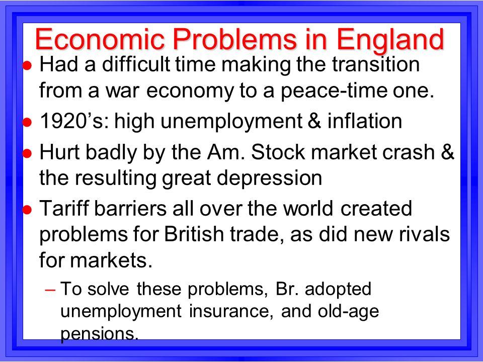 Economic Problems in England