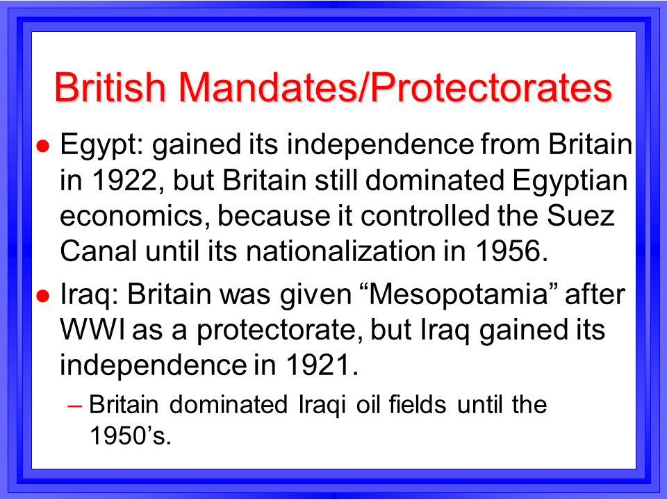 British Mandates/Protectorates
