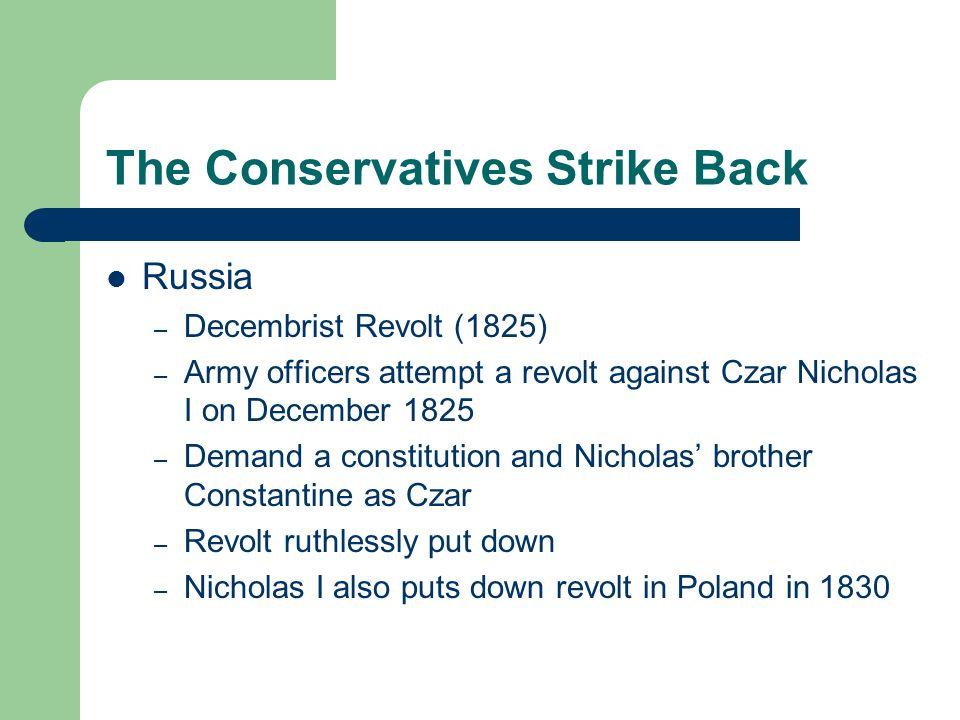The Conservatives Strike Back