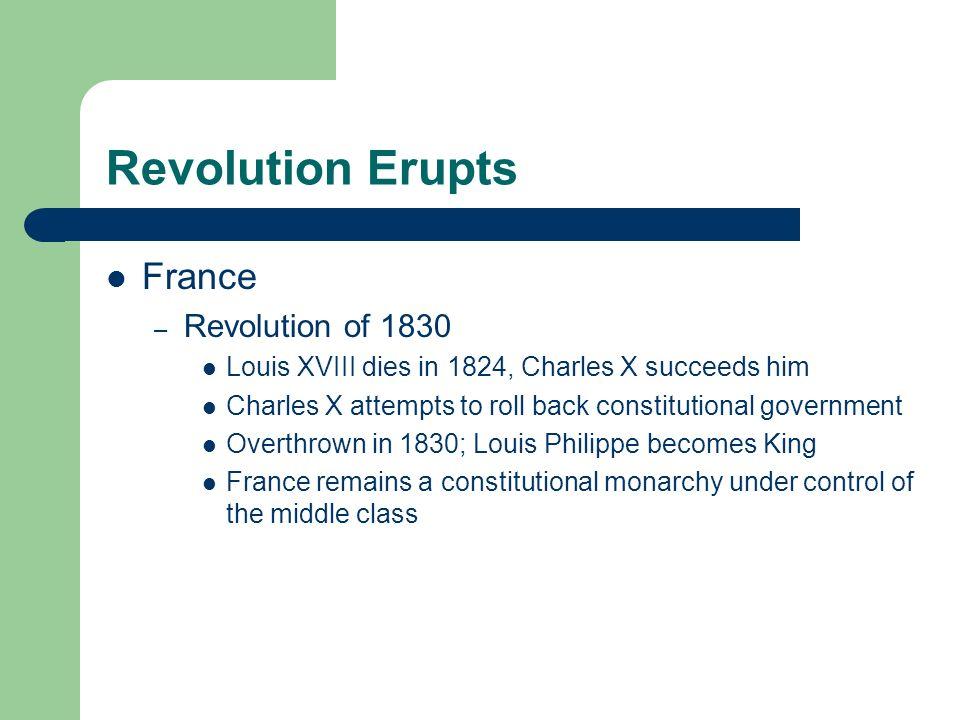 Revolution Erupts France Revolution of 1830