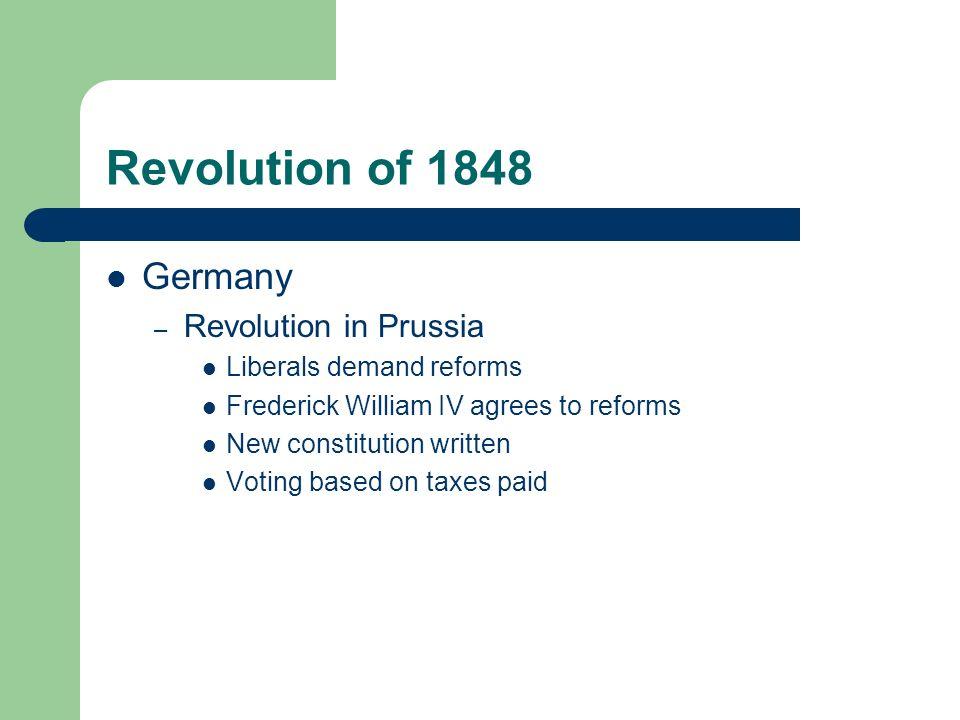 Revolution of 1848 Germany Revolution in Prussia