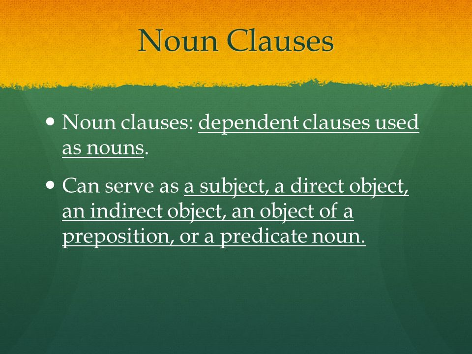 Making a complex sentence with a noun clause