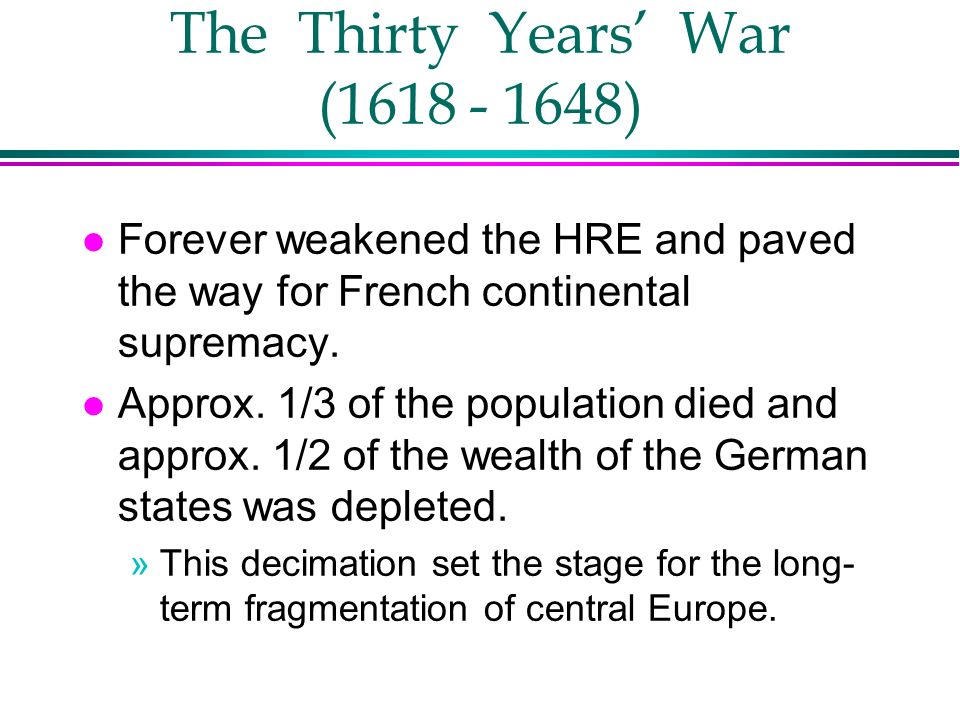 The Thirty Years' War ( )