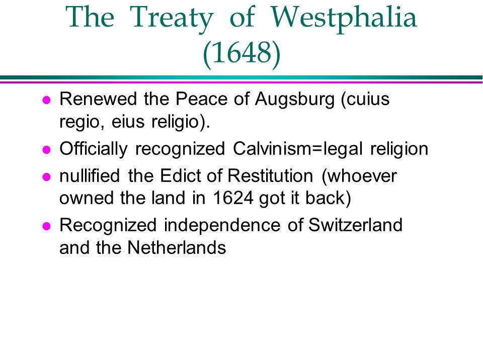 The Treaty of Westphalia (1648)