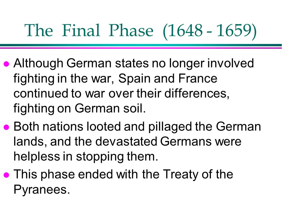 The Final Phase (1648 - 1659)