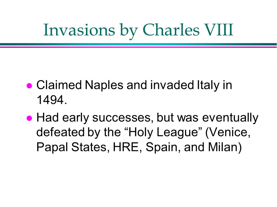 Invasions by Charles VIII