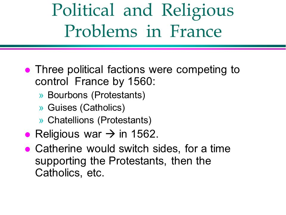 Political and Religious Problems in France