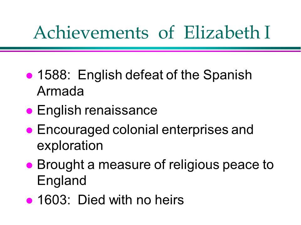 Achievements of Elizabeth I