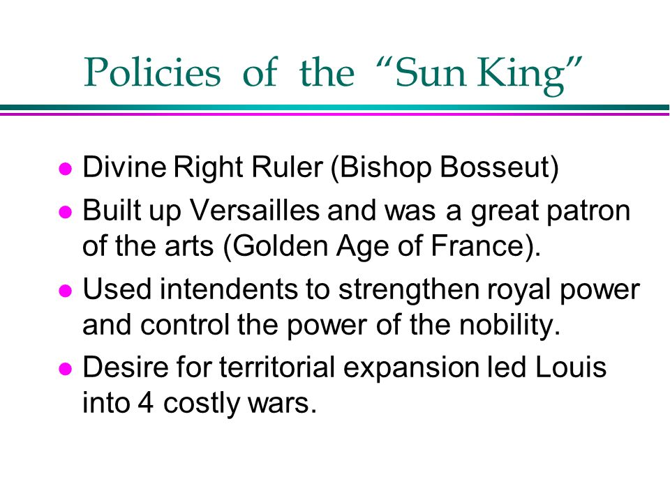 Policies of the Sun King