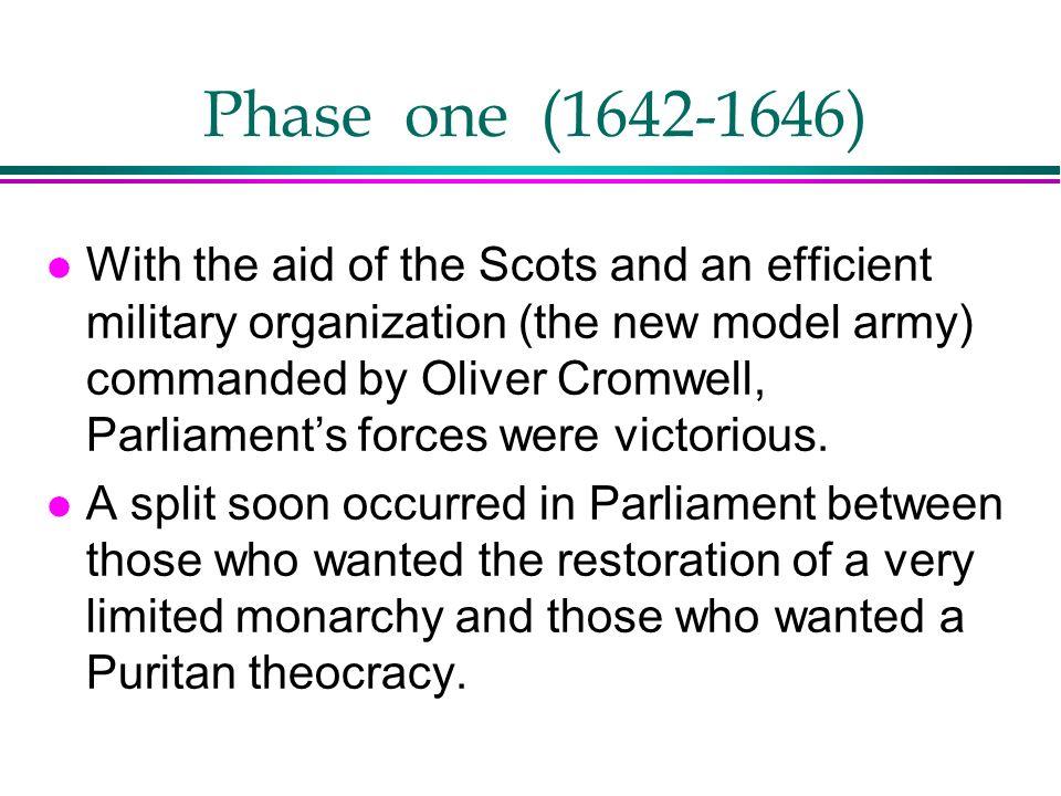 Phase one (1642-1646)