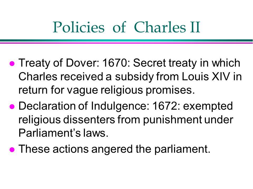 Policies of Charles II