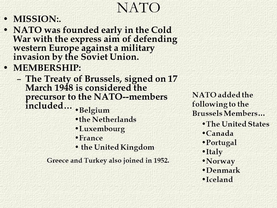 NATO MISSION:.