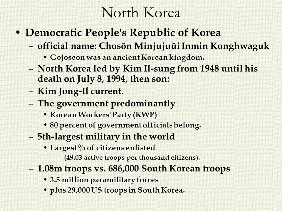 North Korea Democratic People s Republic of Korea