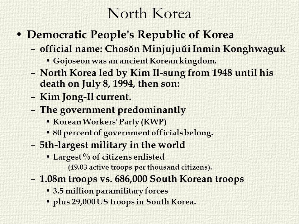 North Korea Democratic People s Republic of Korea