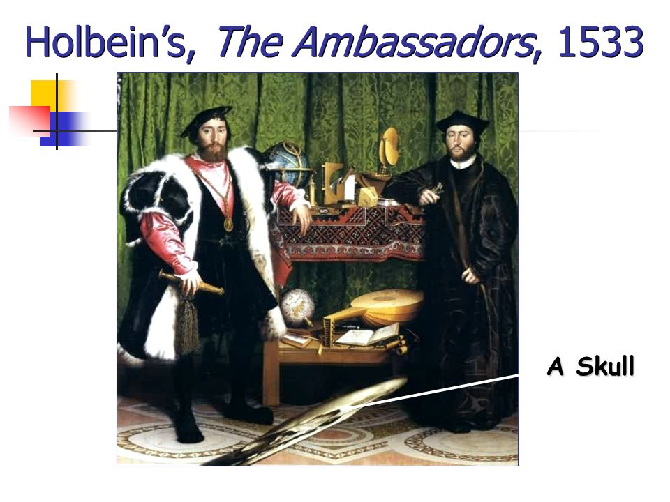 Holbein's, The Ambassadors, 1533