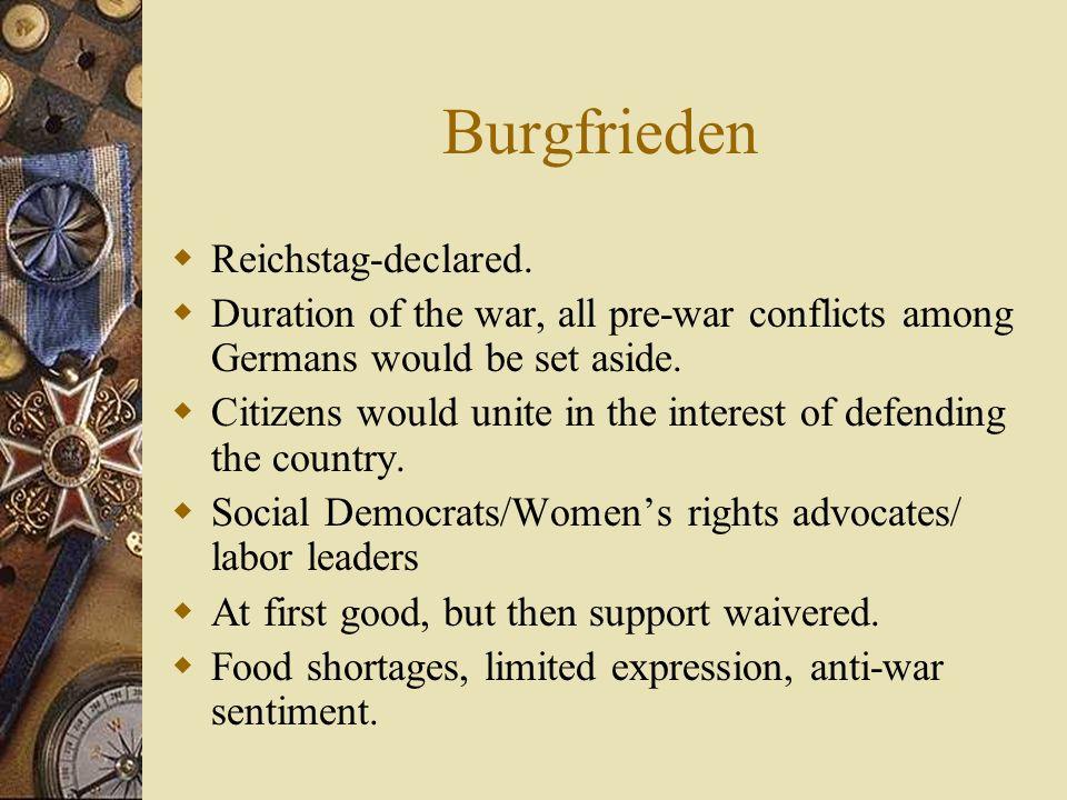 Burgfrieden Reichstag-declared.