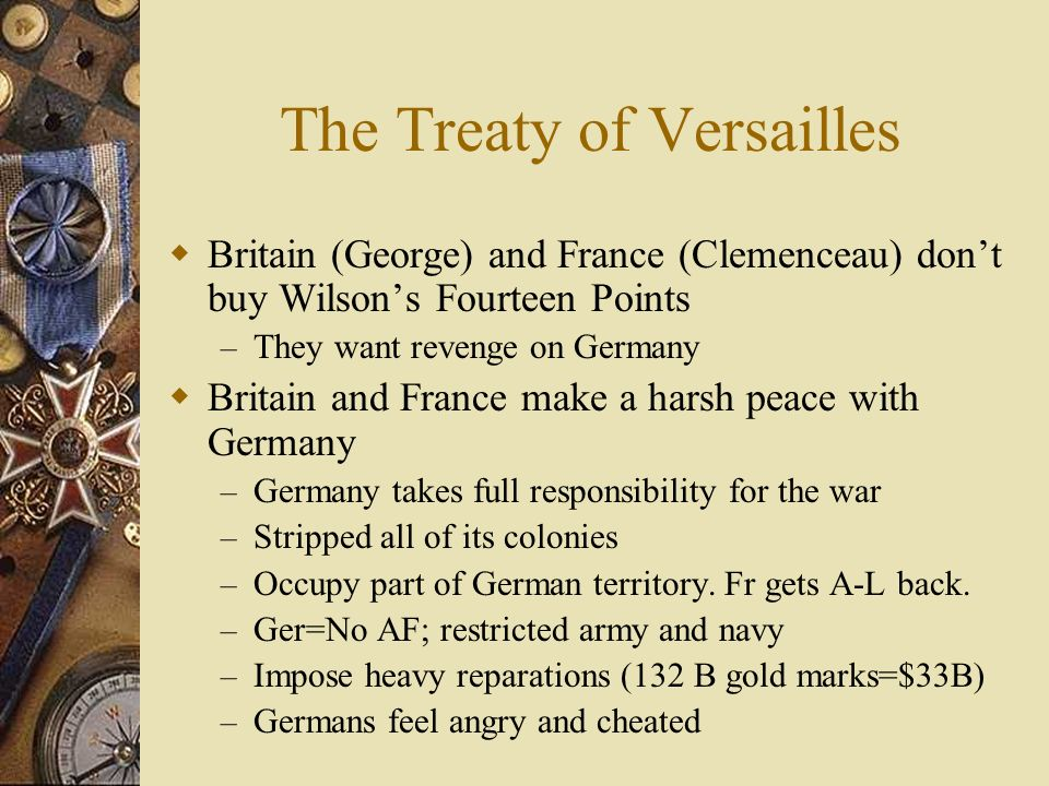14 points treaty of versailles