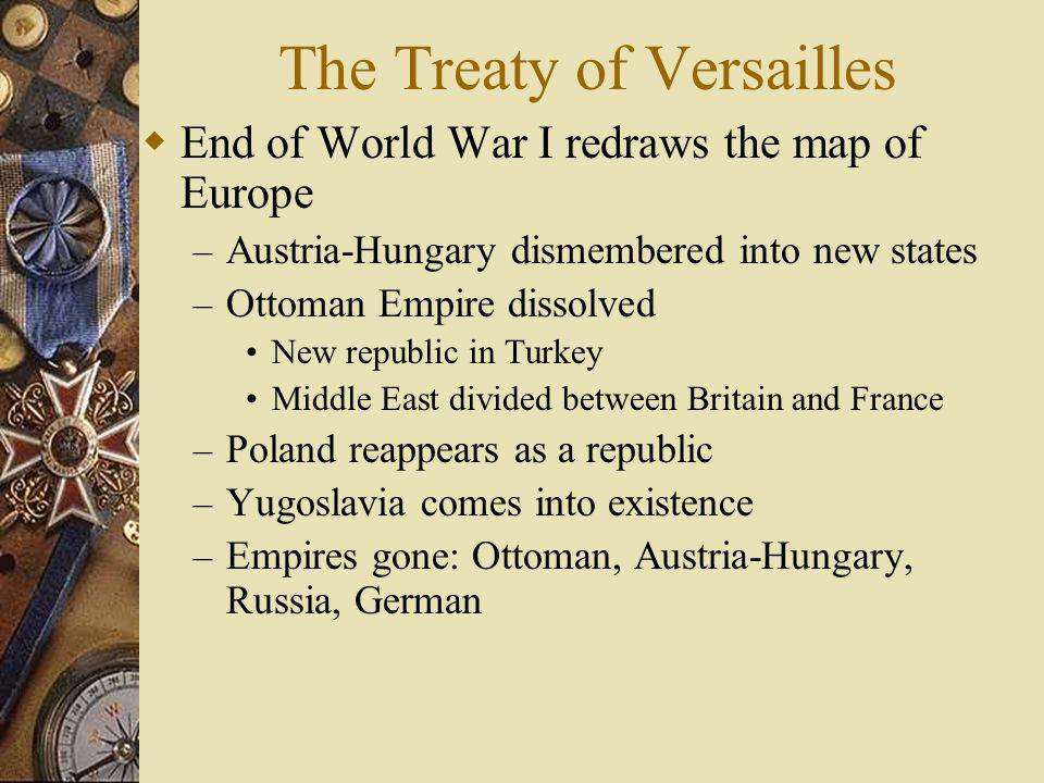 a history of the treaty of versailles and the league of nations
