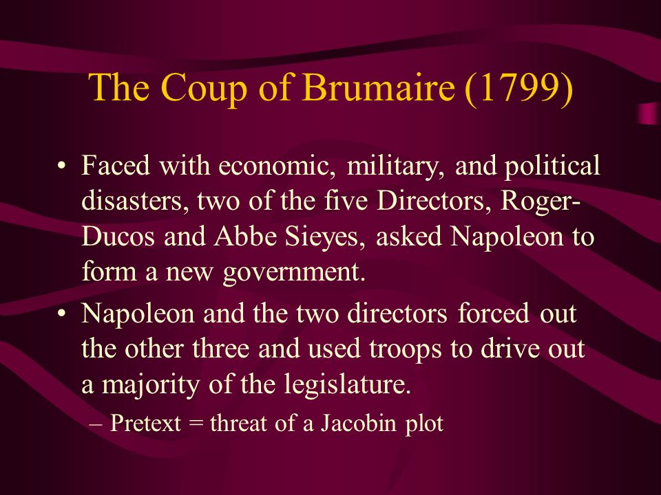 The Coup of Brumaire (1799)