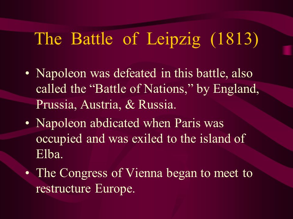 The Battle of Leipzig (1813)