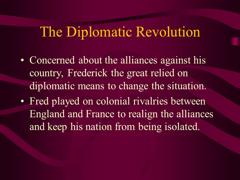 The Diplomatic Revolution