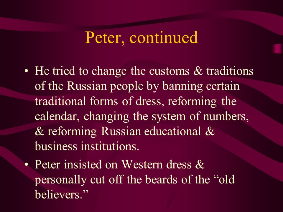 Peter, continued