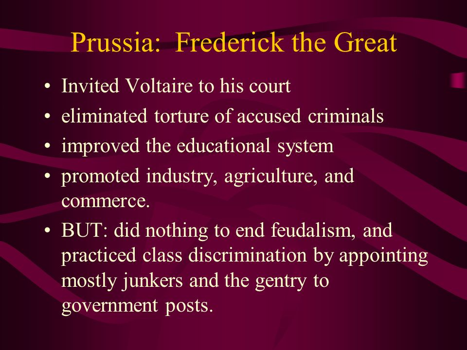 Prussia: Frederick the Great