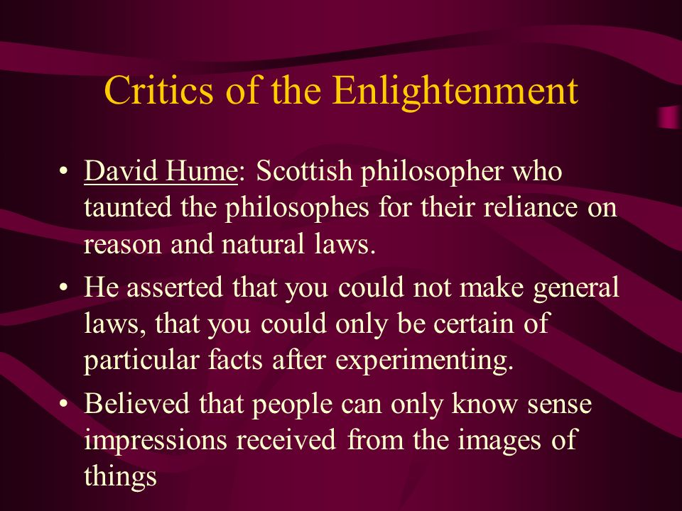Critics of the Enlightenment