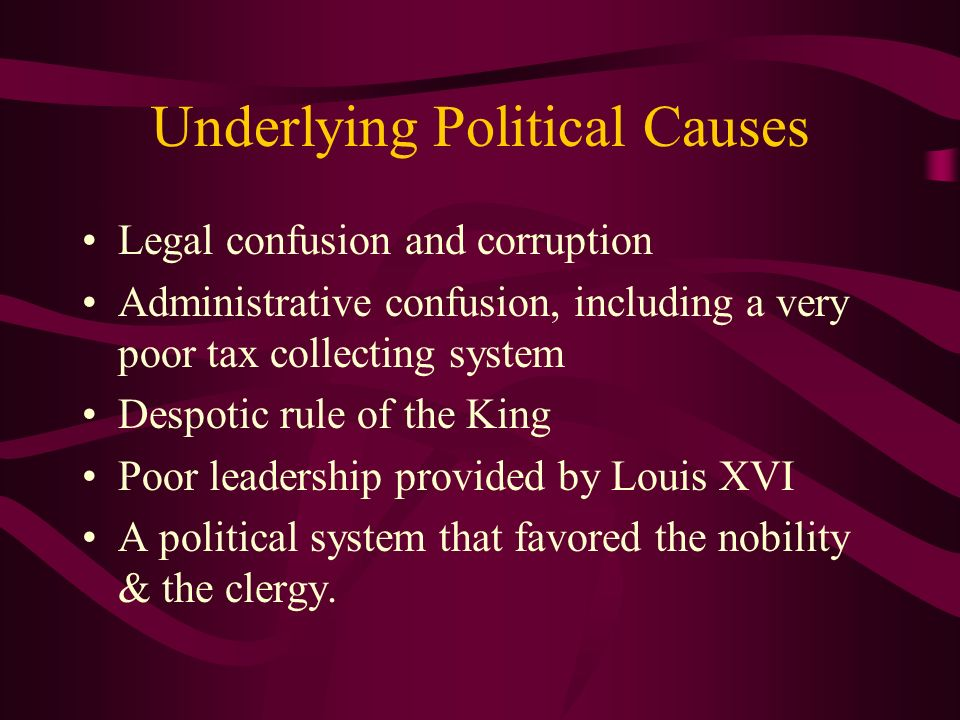 Underlying Political Causes