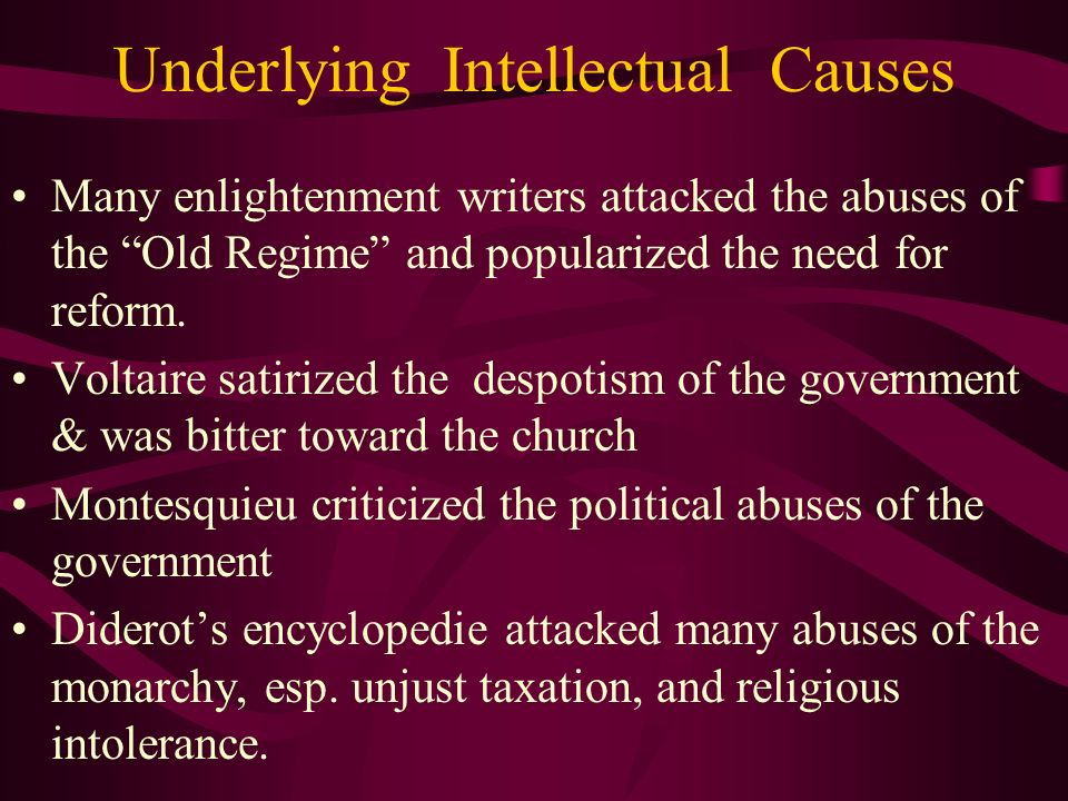 Underlying Intellectual Causes