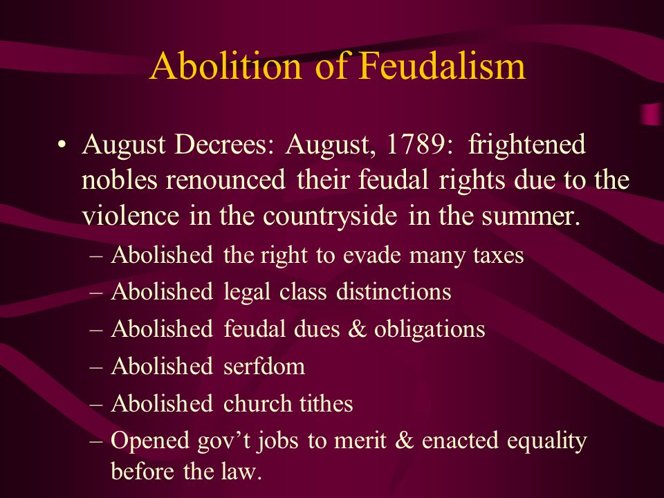 Abolition of Feudalism