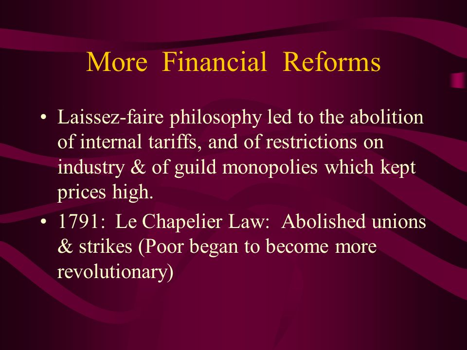 More Financial Reforms