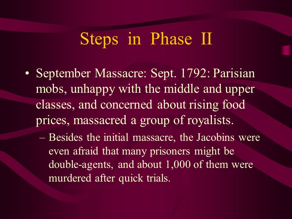 Steps in Phase II