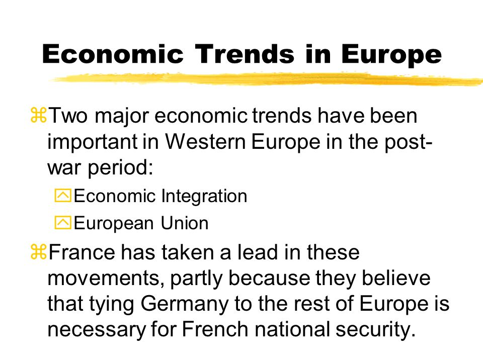 Economic Trends in Europe