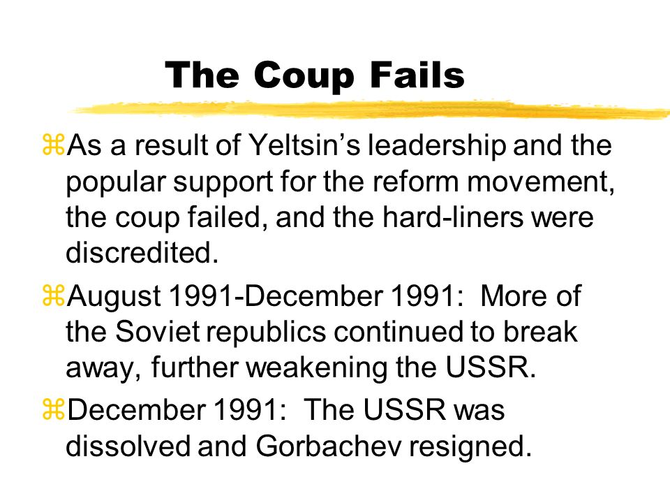 The Coup Fails